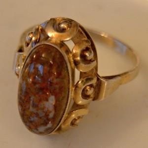 Prsten ze stříbra puncovaný