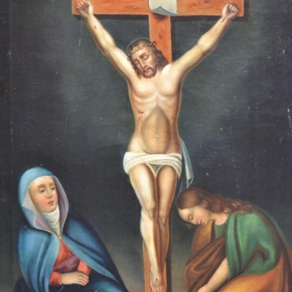 Obraz Kalvárie z počátku 19. století