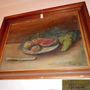 Obraz zátiší o ovocem, signováno