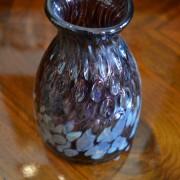 Skleněná, secesní váza