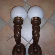 Dřevěná párová světla