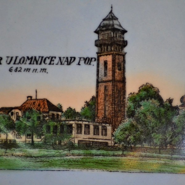 "Talířek ,,Tábor u Lomnice nad Pop. 682m n.m."""