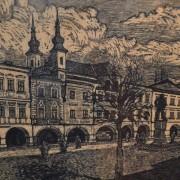 Obraz Litomyšlského náměstí s částí zámku