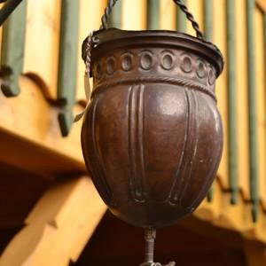 Barokní měděný zásobník na vodu