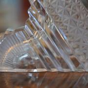 Hodiny v broušeném skle