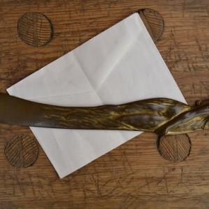 Secesní nůž na dopisy
