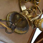 Pěti-ramenný lustr z bronzu