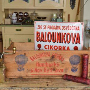 Starožitná bedýnka BALOUNKOVA CIKORKA