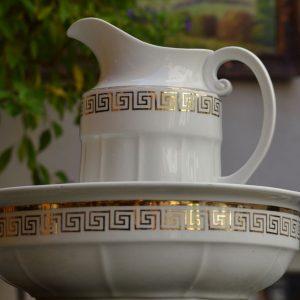 Starožitná porcelánová mycí sada