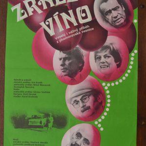 Starý plakát Zralé víno