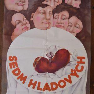 Starý plakát Sedm hladových