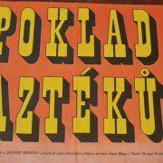 Starý plakát Poklad Aztéků