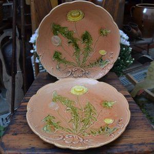 Secesní starožitné talíře
