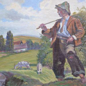 Starožitný obraz Burian