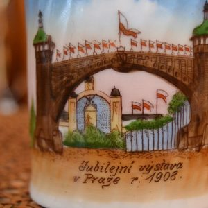 Starožitný hrneček Jubilejní výstava v Praze r.1908