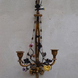 Empírové starožitné svícny