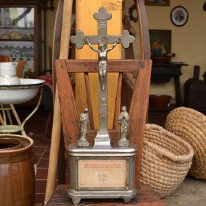 Domácí starožitný oltářík - kalvárie