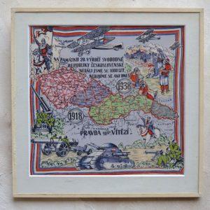 Textilní národně - památeční obraz
