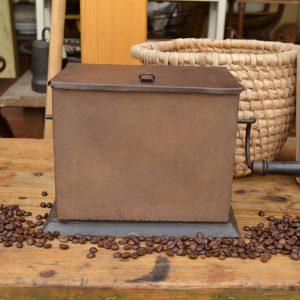 Starožitná ruční pražička na kávu