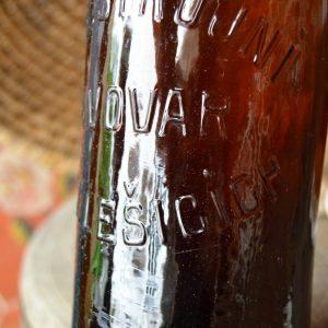 Stará pivní láhev pivovar v Medlešicích