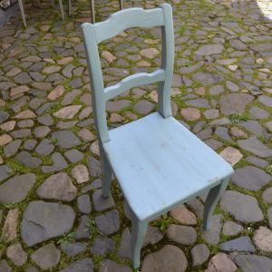 Starožitná židle, modrá
