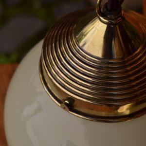 Starožitné závěsné světlo z lisované mosazi - A