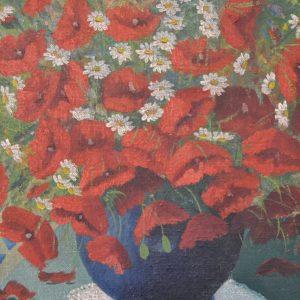Starožitný obraz kytice