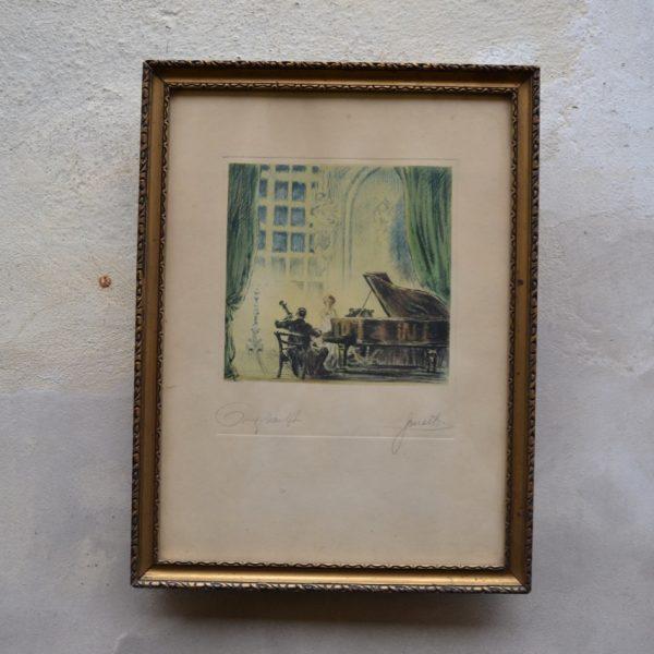 Starožitný grafický list Václav Souček