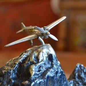 Pánský starožitný kalamář s letadlem