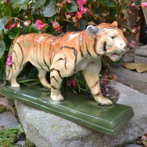 Starožitný keramický tygr zn. DITMAR URBACH