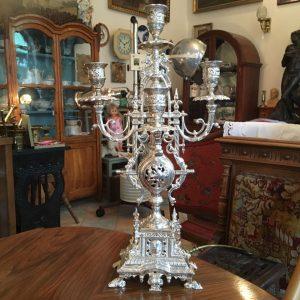 Pěti-ramenný starožitný svícen