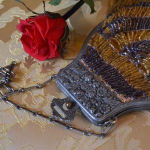 Secesní dámská starožitná taštička