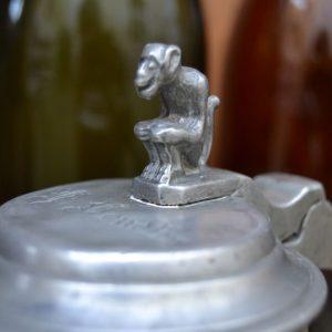 Starožitný cínový korbel