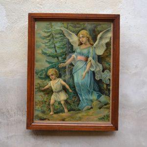 Starý tisk s andělem