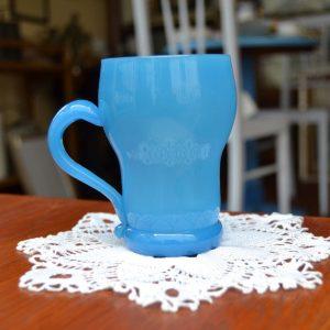 Starožitný pohárek z modrého skla