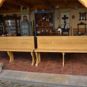 Starožitné párové lavice