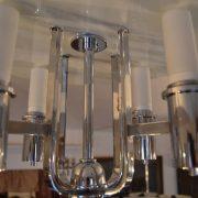 Extra výjimečný starožitný designový lustr