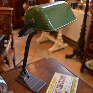 Starožitná bankovní lampička