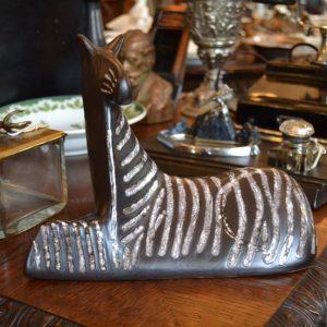 Retro soška zebry