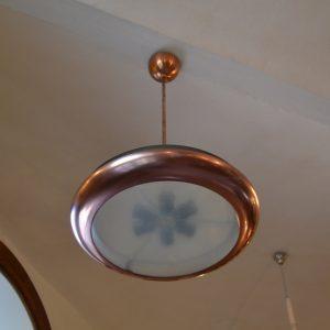 Starožitný modernistický lustr