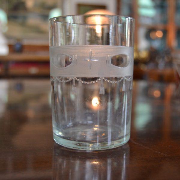 Starožitná klasicistní sklenice