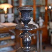Postříbřený starožitný svícen