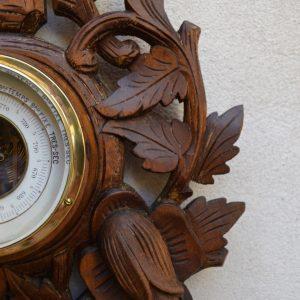 Starožitný barometr s teploměrem