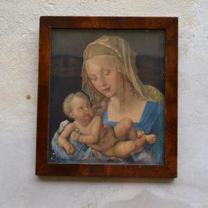 Starožitný tisk - Madona s Ježíškem