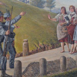 Starožitný obraz - Vojáci