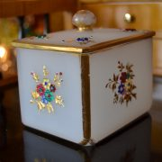 Luxusní starožitná skleněná souprava biedermeier