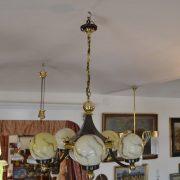 Rondokubistický starožitný lustr