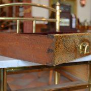 Secesní mosazný noční stolek