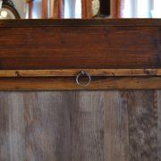 Starožitné nástěnné zrcadlo se sloupy