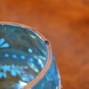 Modrá starožitná dóza
